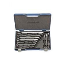 7 UR-012 Набор ключей комбинированных с трещоткой и ступенчатой конфигурацией зева