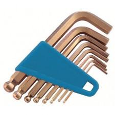 Ключи искробезопасные штифтовые с шаровой головкой в наборе