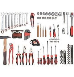 Carolus (Gedore) 2200.030 Универсальный комплексный набор инструментов, 107 предментов