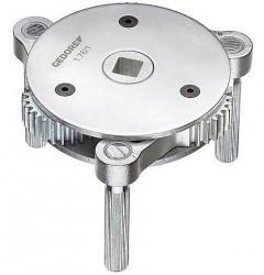 Gedore 1.76 Ключ для съема фильтров-картриджей с 3 захватами  95-165 мм. 1523651