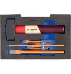 Gedore 1100 CT1-350 Набор зубил в 1/2 L-BOXX® 136 модуль, 9 предметов