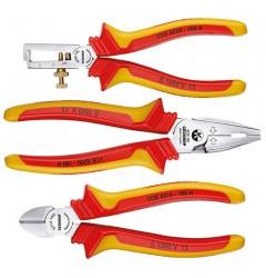 Gedore 1102-004 VDE - набор губцевых инструментов с изоляцией в виде чехла, 3 предмета