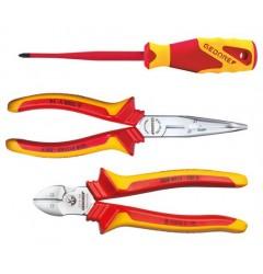 Gedore 1102-005 VDE - набор губцевых инструментов с изоляцией в виде чехла, 3 предмета