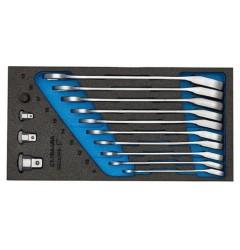 Gedore 1500 CT1-7 URA Набор ключей гаечных комбинированных с трещоткой в CT ложементе 1/3