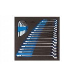 Gedore 1500 CT2-1 B Набор ключей гаечных комбинированных в CT ложементе 2/3