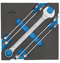 Gedore 1500 CT2-7-32 Набор ключей гаечных комбинированных в CT ложементе 2/3
