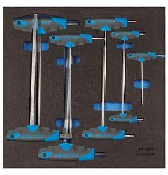 Gedore 1500 CT2-DT 2142 Набор шестигранных торцевых ключей в CT ложементе 2/3