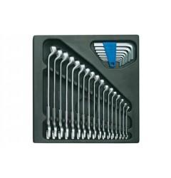 Gedore 1500 ES-1 B Набор ключей гаечных комбинированых в ложементе 2/3