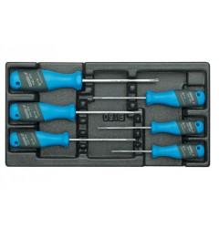 Gedore 1500 ES-2163 TX Набор отверток трехкомпанетных TORX в ложементе 1/3