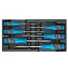 Gedore 1500 ES-2163 TXB Набор отверток трехкомпанетных TORX в ложементе 1/3