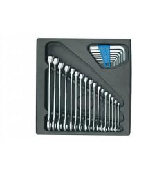 Gedore 1500 ES-7 Набор ключей гаечных комбинированых в ложементе 2/3
