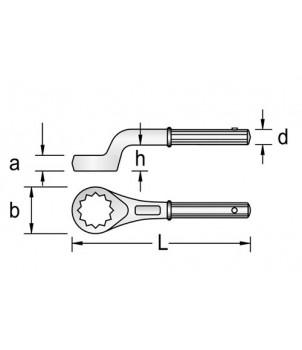 Gedore 2 A Ключ накидной односторонний усиленный