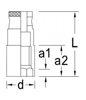 Gedore 50 MH - 59 MH Головка для свечных ключей, с магнитом