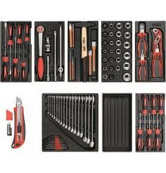 Gedore RED R21010000 Набор инструментов в пластмассовых модулях, 81 предмет