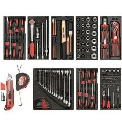 Gedore RED R21010001 Набор инструментов в пластмассовых модулях, 119 предметов