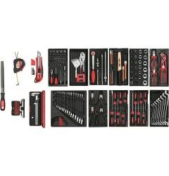 Gedore RED R21010002 Набор инструментов в пластмассовых модулях, 166 предметов