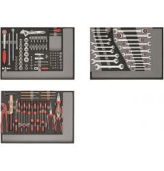 Gedore RED R21010004 Набор инструментов в модулях из пенистого материала, 129 предметов