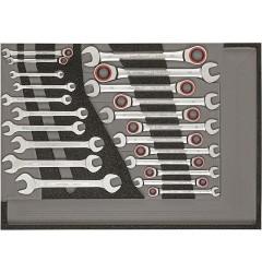 Gedore RED R22350006 Комплект ключей с трещоткой, ключей рожковых