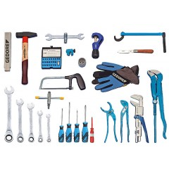 Gedore S 1025 Набор инструментов для сантехника STARTER, 49 предметов