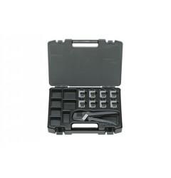 Gedore S 8140 PE S 8140 PA Набор щипцов обжимных профессиональный для электрика, 9 предметов в пластиковом футляре